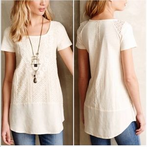 Anthropologie Meadow Rue Laurel Lace Tunic Top M